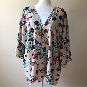 Francesca's Floral Kimono Shrug